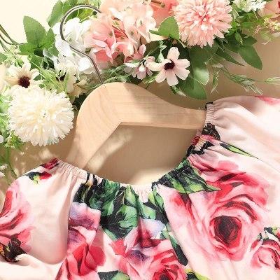 2021 Summer Pullover Shorts Two Piece Flower Children's Suit