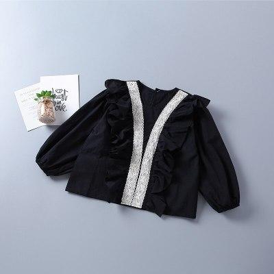 2021 new autumn fashion tiered ruched short shirt + denim pant kid children clothes