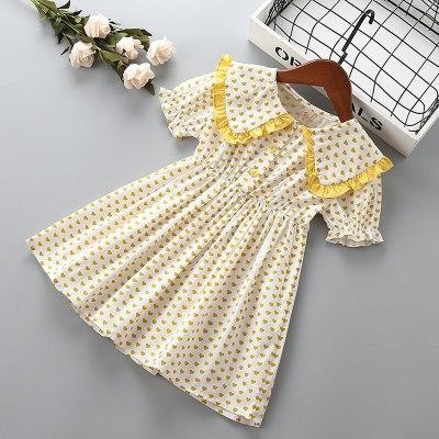 Girl princess heart dress Summer children clothing baby girls sweet dresses