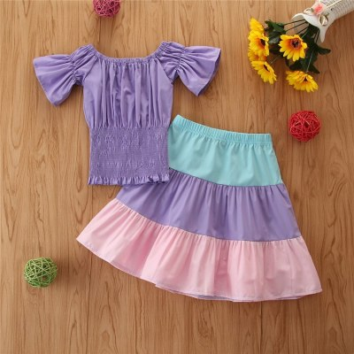 Girls Clothing Sets Baby Clothes 2021 Summer Princess Party Tutu Dress Kids Birthday Ball Gown Dresses
