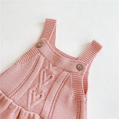 Baby Girls Clothes Winter Knitted Baby Romper Newborn Sleeveless Infant Girls Romper Jumpsuit