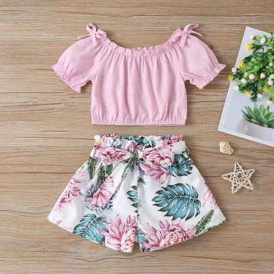 2021 Summer Girls Clothes T-shirt+Shorts Kids Sport Suit Tracksuit For Girls Clothing Sets