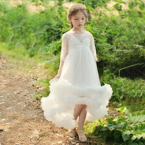 Little Flower Girls Dresses for Weddings Baby Party Frocks Children Images Dress Kids Prom Dresses