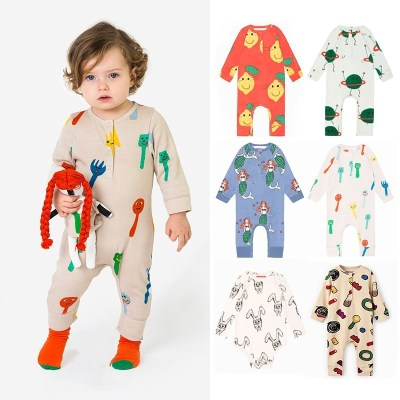 2021 New Cotton Baby Romper Newborn Girl Outfit Long Sleeve Rompers One-Pieces Summer Bobo