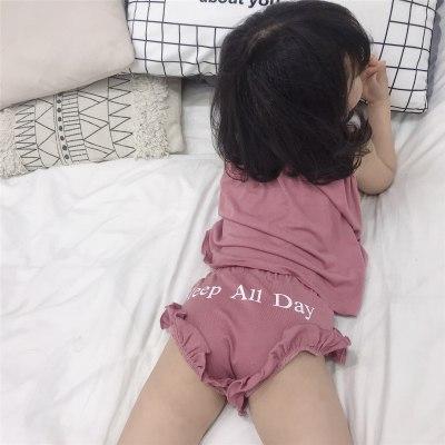 Summer Kids Girls Clothes Pajamas Sets Baby Girl Boys Vest Pant Set Cotton Casual Sleepwear