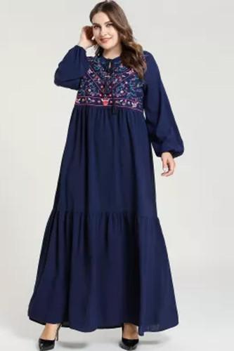 Embroidery Dress Women Turkey Clothing Moroccan  Long Caftan Turkish Dresses