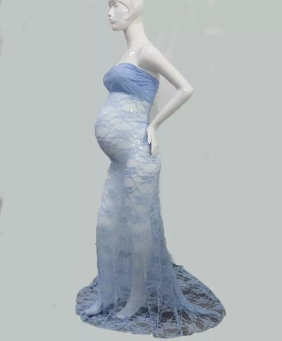 Maternity Dresses For Photo Shoot Lace Maxi Maternity Gown Clothes For Pregnant Women Pregnancy Dress Photography Props