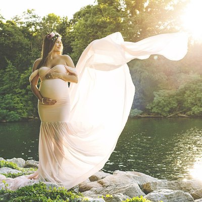 Maternity Photography Props Long Pregnancy Dress For Photo Shooting Off Shoulder Pregnant Dresses For Women Maxi Maternity Gown