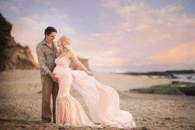 Maternity Photography Props Long Dress Lace Fancy Pregnancy Dresses Shoulderless Pregnant Women Maxi Gown For Photo Shoots