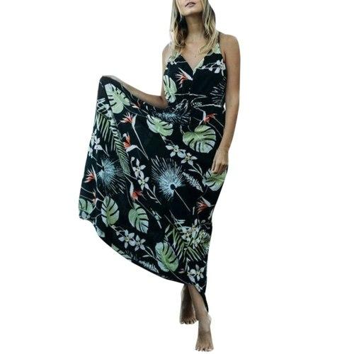 Women's Leaf Print Maternity Photography Dresses Maternity Sleeveless Suspender Dress Pregnancy Sundress