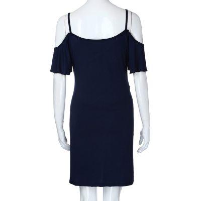 Fashion Womens Pregnants V-Neck Ruffles Nursing Maternity Solid Camis Dress