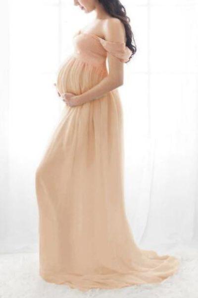 Lace Maternity Dresses For Photos Shoot Photography Props Long Dresses Pregnant Women Maternity Clothes Fancy Pregnancy Dress