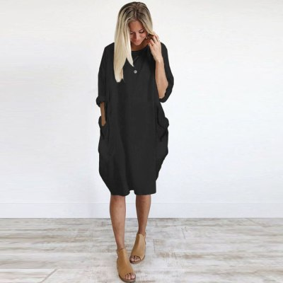 Long Sleeve Casual Loose Dress Maternity Clothes for Pregnant Women Vestidos Gravidas Lady Dress Pregnancy Dresses