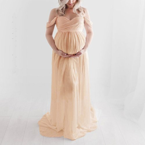 Lace Maternity Dresses For Photos Shoot Photography Props Long Dresses Pregnant Women Maternity Clothes Fancy Pregnancy Dress