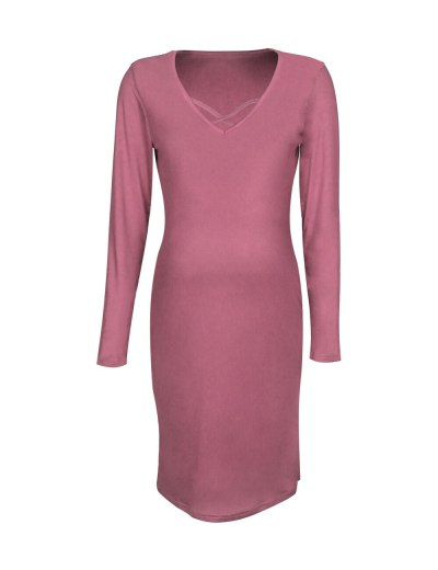 2021 Maternity Dresses Casual Pregnant Women Dress V-Neck Sexy Stretchy Summer Solid Color Pregnancy Dress Plus Size 2XL
