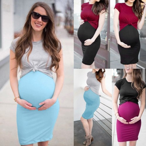 2021 Maternity Dresses 2pieces T-shirt + Dress Maternity Photography Props Pregnancy Dress Sexy Clothes For Women Infants
