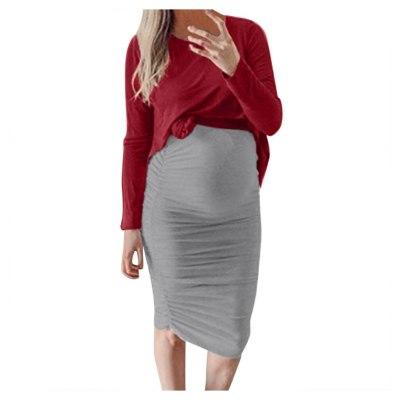 2021 Fashion 2pcs Set Women Pregnant Maternity Nursing Solid Autumn Casual Dress clothes for pregnant women ropa de maternidad
