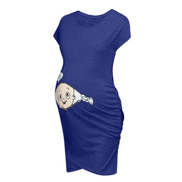 Maternity Dress For Pregnant Women's Clothing Pregnancy Clothes Cartoon Letter Printed Dresses Women Daily Wearing Vestido 2019