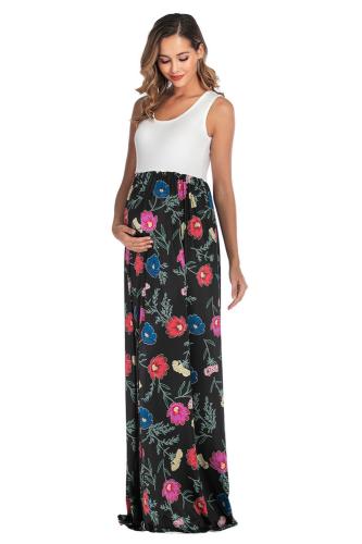 2021 Women Pregnant Maternity Nursing Floral Breastfeeding Summer Long Dress Sleeveless beach Party clothes for pregnant women