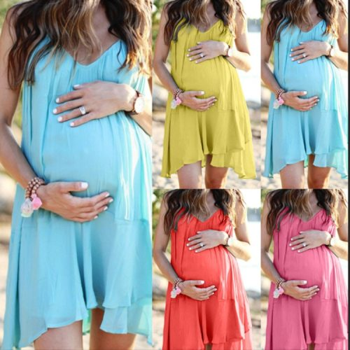 Summer Women Maternity Dresses Pregnant Dresses Maternity Clothes Plus Size Pregnancy Dress Backless Beach Maternity Clothes