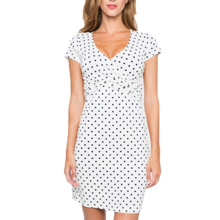 2021 Fashion Pregnant Dress Sleeveless V-Neck Print Maternity Dress  Nursing Dress