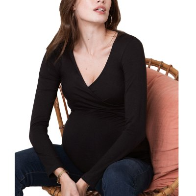 New Maternity Clothes Pregnant Women Breastfeeding  solid color  shirt  Blouse Tops Shirt For Pregnant Women Nursing Top