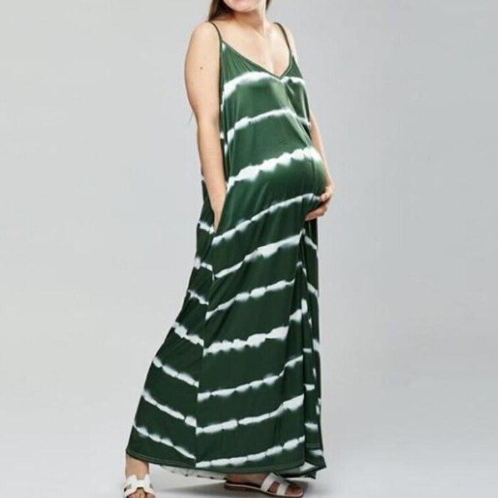 Stripe Slip Dress Casual Maternity Dresses For Photo Shoot Women Dress Maternity Photography Props Dresses For Pregnant Women