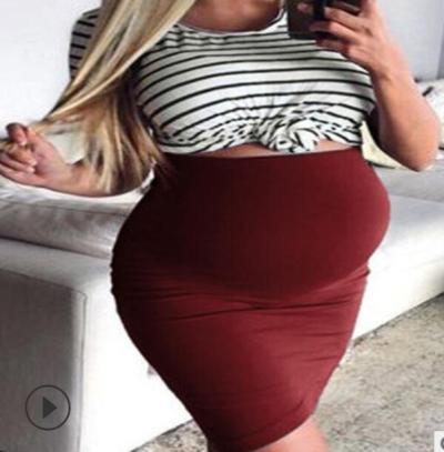 Fashion Pregnant Women's Dress Soft And Comfortable  Materity Dresses