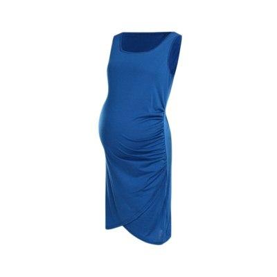 Maternity Dress Women Pregnant Maternity Nursing Solid Breastfeeding Summer Daily Jumper Skirt
