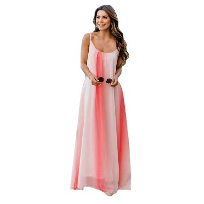 Sexy Spaghetti Straps Womens Dress Sleeveless Maxi Loose Boho Robe Summer Beach Party Style Long  Maternity Dress