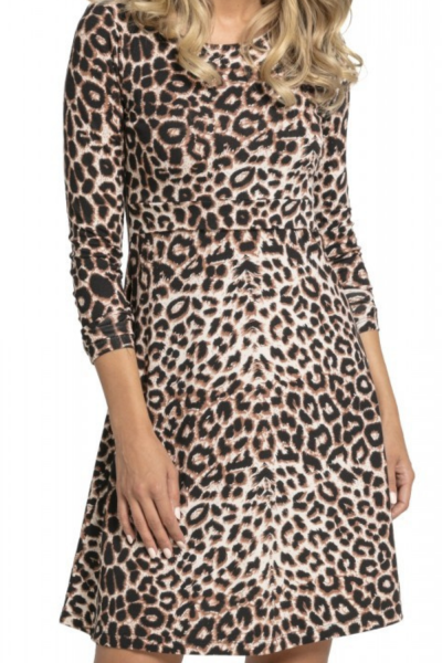 Maternity Dress Casual Women Mother Pregnant Leopard Skirt Maternity Breastfeeding Shirt