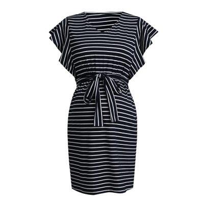 Women's Maternity Dresses Short Sleeve Pregnancy Clothes Stripe Comfortable Summer Ladies Strapless dress Pregnant Dresses