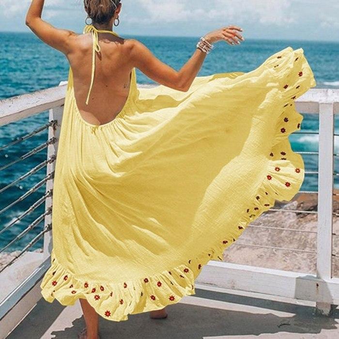 Maternity Dresses Women Pregnant Strap Backless Photography Dress Print Beach Pregnancy Dress for photo shoot #42