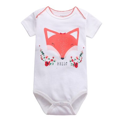Newborn Baby Boy Girls Summer Clothes 2021 New Cartoon Cotton Body Suit Infant Baby Short Sleeve Climbing Clothes Bag Fart Roupa