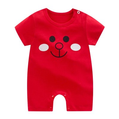 Newborn Baby Boy Romper Summer Cartoon Mickey Mouse Girl Short Sleeve Jumpsuit Cotton Toddler One-Piece Kid Clothes Bebes Outfit