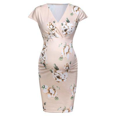 2021 New Summer Casual Pregnant Nursing Women's Dress Sleeveless Sexy Tight Floral Maternity Vestido de maternidad