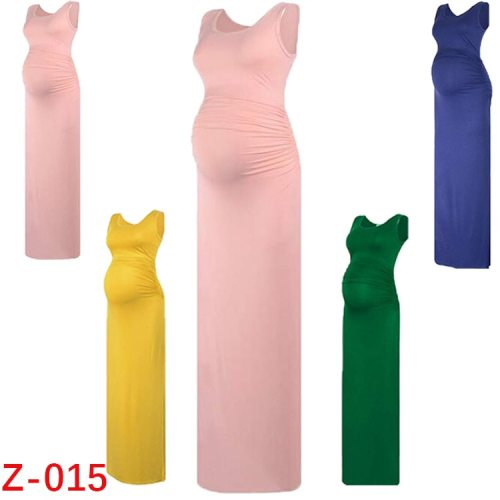 Womens Soft Long Fashion Pregnant woman Dress Women sleeveless Pregnancy Maternity Dress Nusring Maternity Casual Clothes