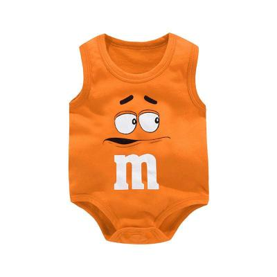 Newborn Baby Boys Girls Cartoon Cotton Bodysuit Infant Baby Bag Fart Sleeveless Vest Jumpsuit Summer Thin Penguin Pajamas Outfit