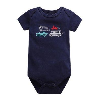 Newborn Baby Boy Girls Summer Clothes 2021 New Cartoon Cotton Body Suit Infant Baby Short Sleeve Climbing Clothes Bag Fart Roupa