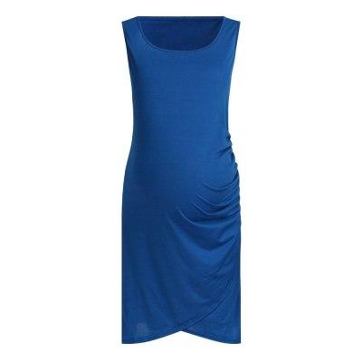 Sleeveless solid color pregnant women dress  CHD20261