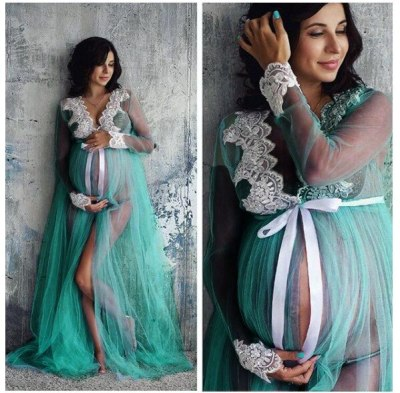 Maternity Photography Props Pregnancy Dress Photography Maternity Splicing Dresses For Photo Shoot Pregnant Dress Lace clothes