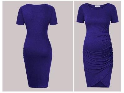 Short Sleeve Pregnancy Dress Gravidas Vestidos Maternity Dresses for Pregnant Women Clothes Skinny Slim Lady Maternity Summer