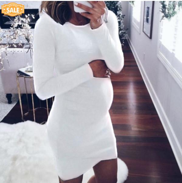 Autumn Winter Women Dress Fashion Women Pregnants O-neck Long Sleeve Nursing Baby For Maternity Mini Dress Dresses For Women