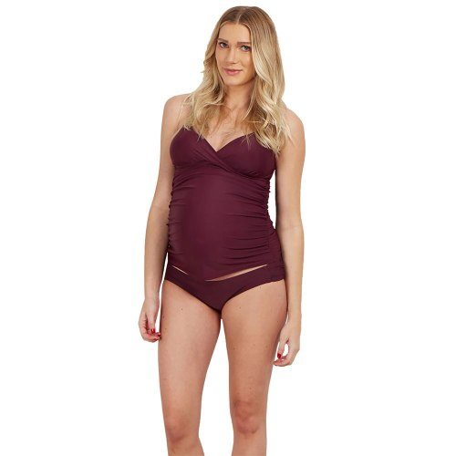 One-Piece Swimming Suit Belly Support Swimsuit Beach Sexy Plain Maternity Swimsuit