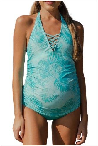 Pregnancy Swimsuit Bathing Suit Beachwear Halter swimwear women Summer Bikini for Pregnant Women Maternity Bikini Set Swimwear