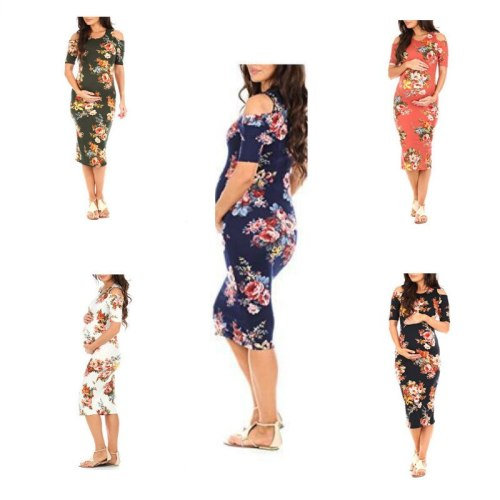 New Women Pregnant Floral Long Maxi Dresses Maternity Dress Photography Session Photo Clothes Pregnancy Summer Beach Dress