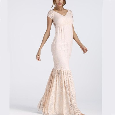 New Mermaid Skirt Maternity Dresses Lace Long Sleeve Photography Sexy Photo Props Shoot Maxi Gown Pregnant Pregnancy Women Dress