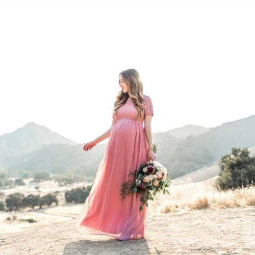 New 2021 Elegant Pregnant Dress Female Long Dress Pregnancy Photo Shoot Maternity Lace Dress Women Clothes Photography Props