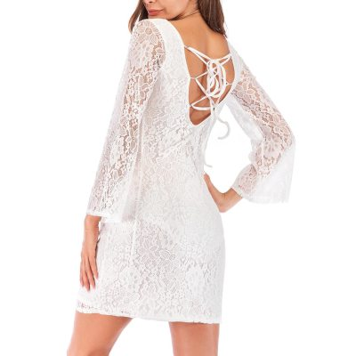 Elegant Maternity Floral Lace Overlay Dresses Pregnant Women Solid Color Long Sleeves Dress Photography Dress for Cocktail Party
