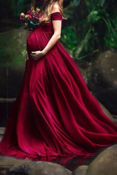 Long Maternity Photography Props Pregnancy Dress Photography Maternity Dresses For Photo Shoot Pregnant Dress Lace Maxi Gown